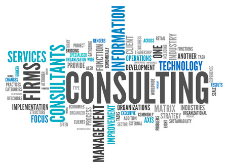 Word Cloud with Consulting related tags photo