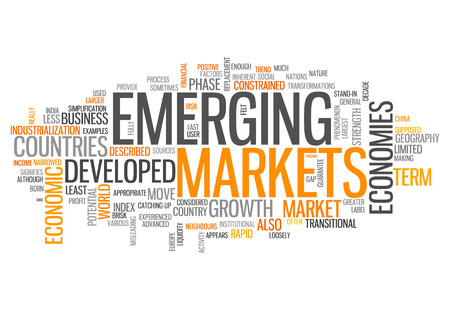 emerging markets: Word Cloud with Emerging Markets related tags
