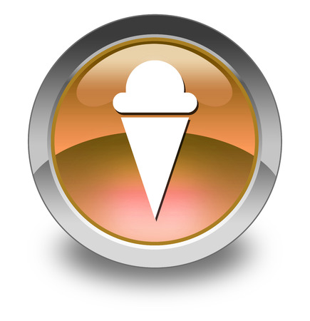 Icon, Button, Pictogram with Ice Cream symbol photo