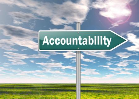 Wegweiser mit Accountability Wortlaut Lizenzfreie Bilder