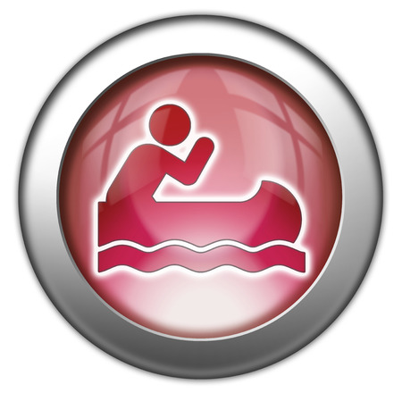 Icon, Button, Pictogram with Canoeing symbol photo