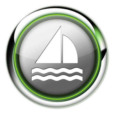 hull: Icon, Button, Pictogram with Sailing symbol Stock Photo