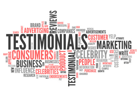 Word Cloud with Testimonials related tags 版權商用圖片
