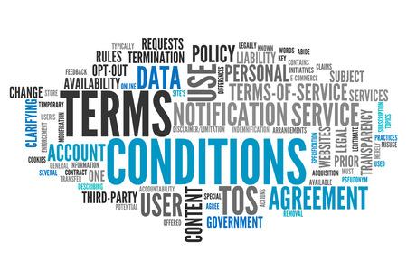 Word Cloud avec les conditions générales liées étiquettes Banque d'images - 27688041