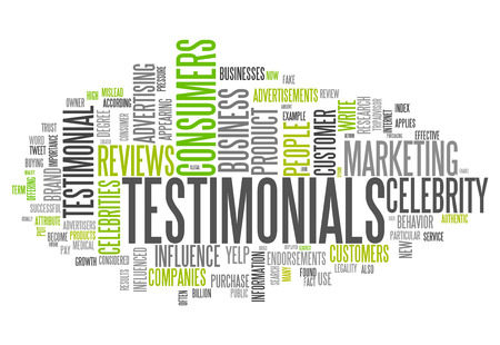Word Cloud with Testimonials related tags photo