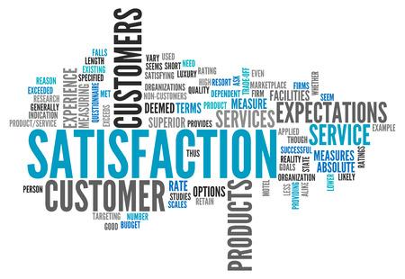 Word Cloud avec des étiquettes de satisfaction liés Banque d'images - 27707624