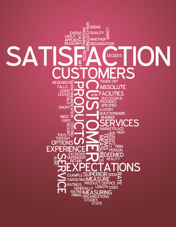 Word Cloud with Satisfaction related tags photo