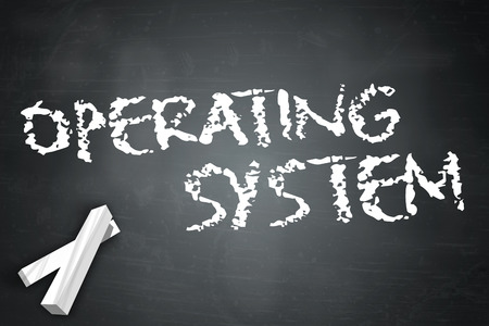 operating system: Blackboard with Operating System wording Stock Photo