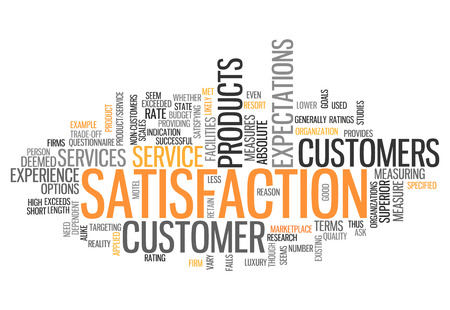 Word Cloud with Satisfaction related tags