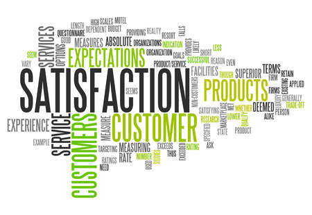 satisfied customer: Word Cloud with Satisfaction related tags