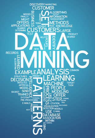 Word Cloud with Data Mining related tags photo