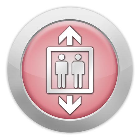 Icon, Button, Pictogram with Elevator, Lift symbol photo