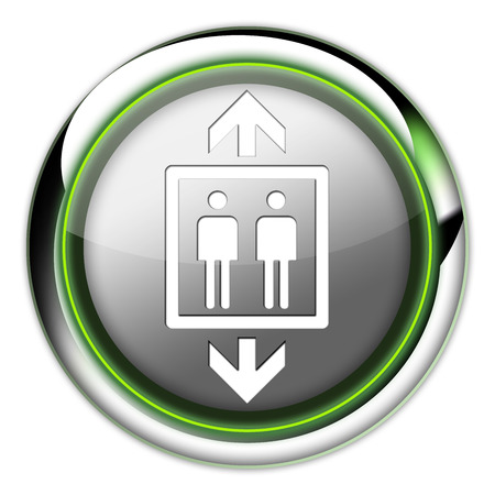 pushbuttons: Icon, Button, Pictogram with Elevator, Lift symbol