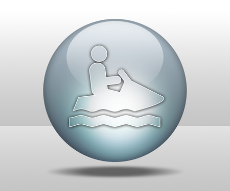 Icon, Button, Pictogram with Personal Watercraft symbol photo