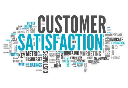 고객 만족 관련 태그 단어 구름 스톡 콘텐츠