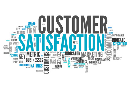Word Cloud with Customer Satisfaction related tags