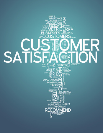 balanced scorecard: Word Cloud with Customer Satisfaction related tags