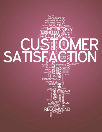 Word Cloud with Customer Satisfaction related tags photo