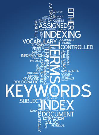 keywords: Word Cloud with Keywords related tags Stock Photo