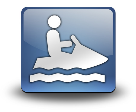 personal watercraft: Icon, Button, Pictogram with Personal Watercraft symbol