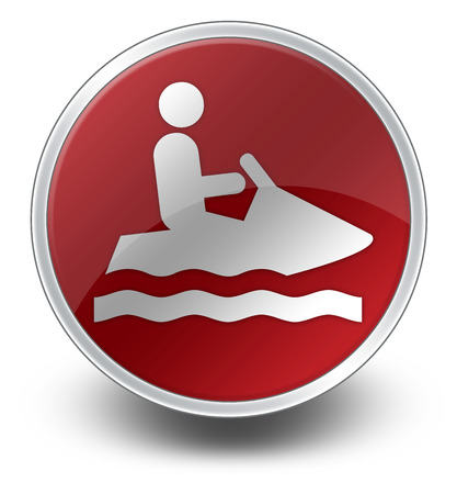 Icon, Button, Pictogram with Personal Watercraft symbol