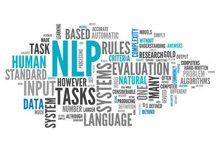 Nuage de mot avec la PNL Tags associés Banque d'images - 27857012