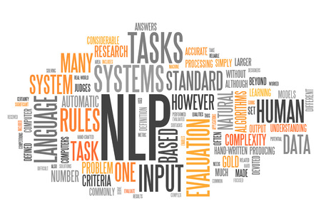 Word Cloud with NLP related tags photo
