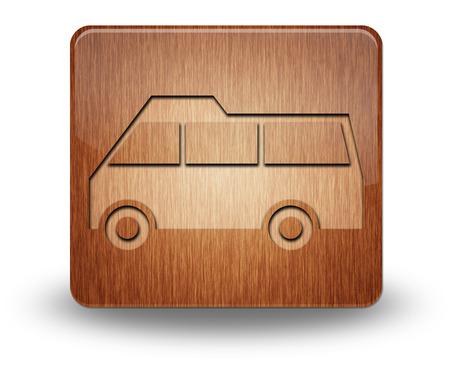 Icon, Button, Pictogram with Van symbol photo