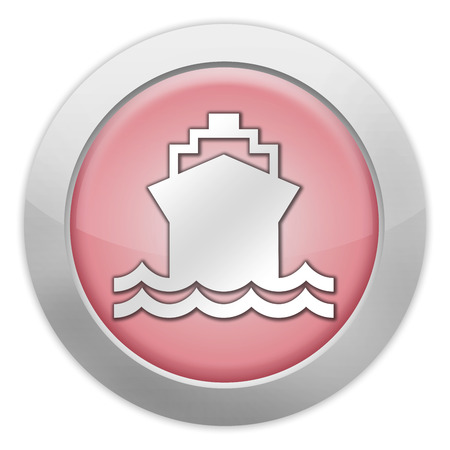 water transportation: Icon, Button, Pictogram with Ship, Water Transportation symbol