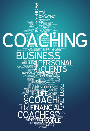Word Cloud with Coaching related tags photo