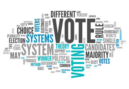 voters: Word Cloud with Vote related tags