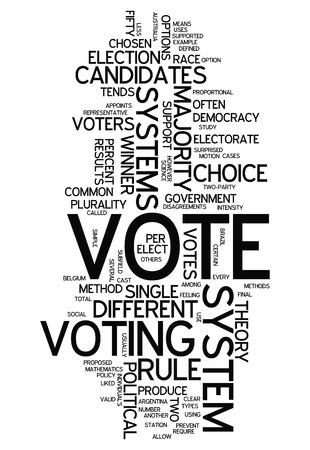 politican: Word Cloud with Vote related tags
