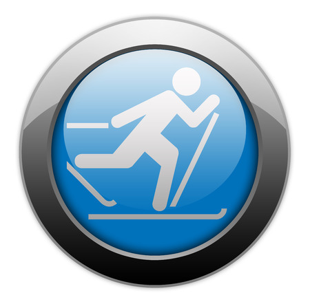Icon, Button, Pictogram with Cross-Country Skiing symbol