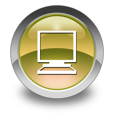 desktop computer: Icon, Button, Pictogram with Desktop Computer symbol