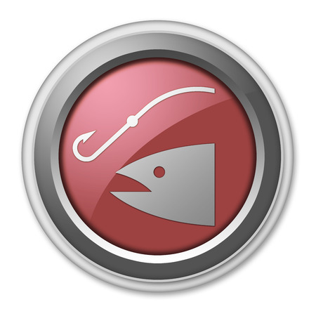 Icon, Button, Pictogram with Fishing, Angling symbol photo