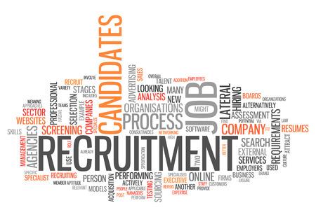 Word Cloud met Recruitment gerelateerde tags