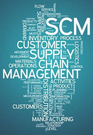 Word Cloud with Supply Chain Management related tags photo