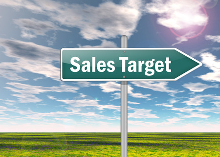 Signpost with Sales Target symbol photo