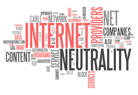 net: Word Cloud with Internet Neutrality related tags