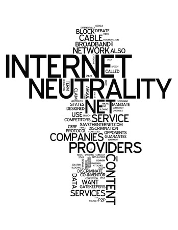 Word Cloud with Internet Neutrality related tags