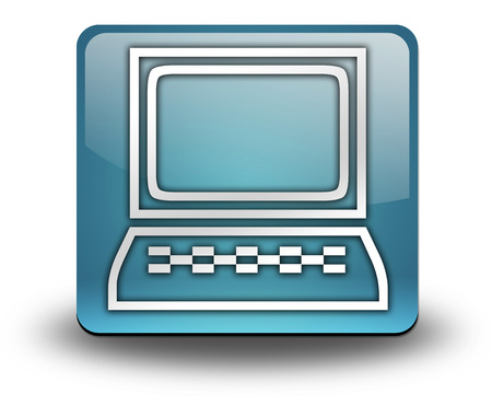 ordinateur de bureau: Ic�ne, Bouton, pictogramme symbole ordinateur de bureau