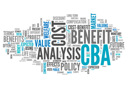 Word Cloud with Cost-Benefit Analysis related tags Stock Photo