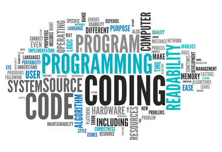 compiled: Word Cloud with Coding related tags
