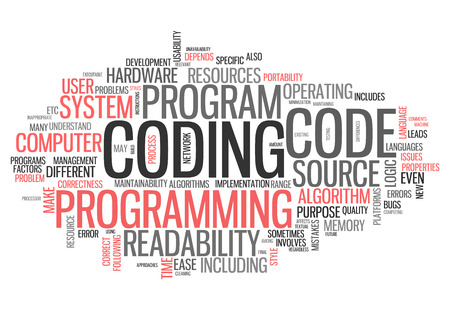 scripting: Word Cloud with Coding related tags