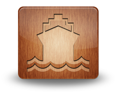 Icon, Button, Pictogram with Ship, Water Transportation\ symbol