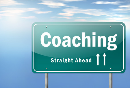 Highway Signpost with Coaching wording photo