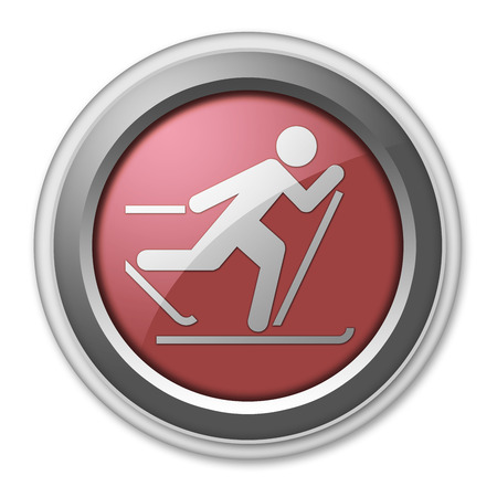 cross country skiing: Icon, Button, Pictogram with Cross-Country Skiing symbol