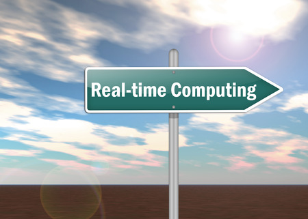 realtime: Signpost with Real-time Computing wording