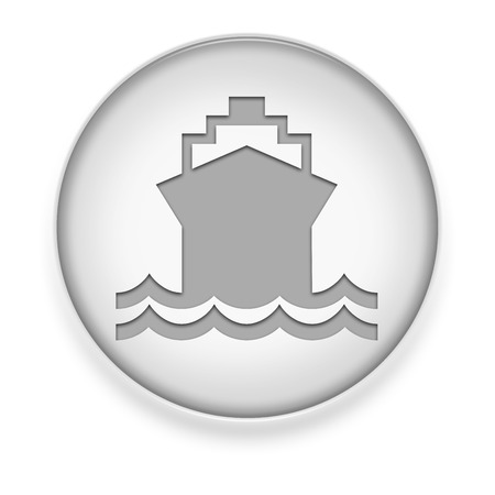 Icon, Button, Pictogram with Ship, Water Transportation symbol photo