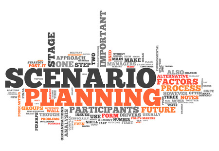 Word Cloud with Scenario Planning related wording Stock Photo - 29623383